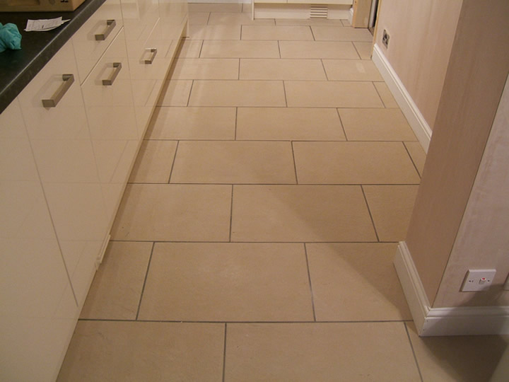 How to install rectangular floor tiles